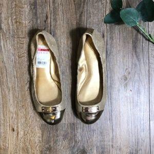 Coach Darsi Gold Ballet Flats